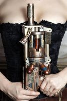 Steampunk Weaponry : The Girl, The Guns : 1 by HyperXP