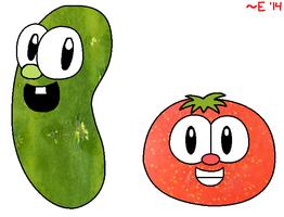 Mr. Cucumber and Mr. Tomato by Enophano