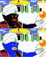Mr Popo gets painted blue by illahstrait