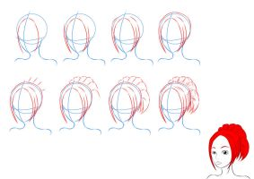 How to Draw anime hair by lilliy22