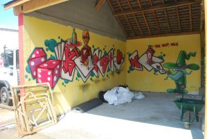 Graffiti casino Kampagnarts2014 by YoulDesign