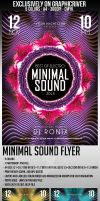 Minimal Sound Flyer Template by Thats-Design