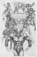 X-Men Blue Team Pencil by edtadeo