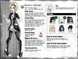 Beatrice Darkfall BIO (update... again...) by DianaDemon