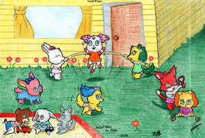 Jewelpets are playing by davidcool1989
