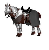 Old Warrior Horse Png Stock 3 by Direwrath