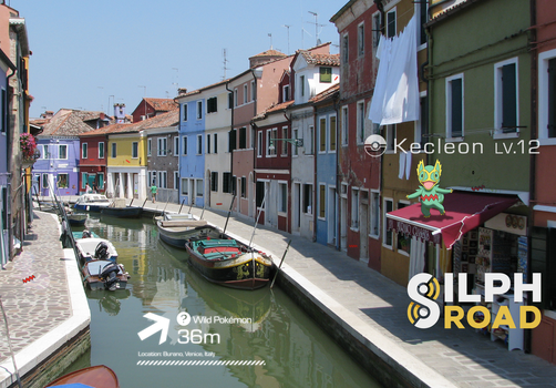 Silph Road: Kecleon in Burano by Tustin2121