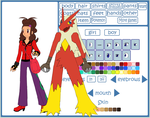 Phoenix and her Blaziken, Heatfire by AxelThePhoenix