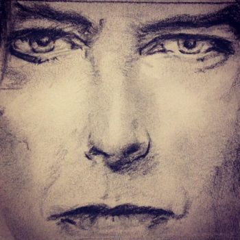 David Bowie Sketch by PaintedLiLy