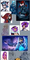 2008 drawing compilation 3. by Pirate-Cashoo