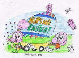 Hopping easter by murumokirby360