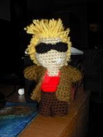 Crocheted Duke Nukem by DearAngelTori