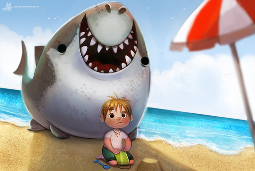 Daily Painting #961. Dun dun... (OG) by Cryptid-Creations