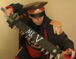 40k Commissar cosplay by USA-Nuke