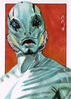 Abe Sapien - Sketch Card by J-Redd