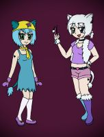 Lulu And Kaylie - Human Furbies by Reitanna-Seishin