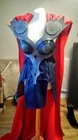 Female Thor Cosplay Progress - Cape Added Today! by Kirstie1988
