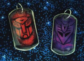 Autobot and Decepticon Deelys by mcat711
