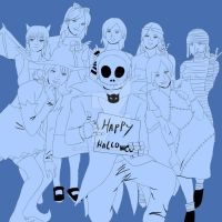 Happy_Hallowen_Line by Shimgu