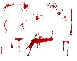 Various blood spatter's by kungfufrogmma