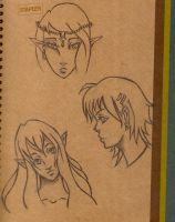 Boring School Doodles-Headssss by ManabeLady1313