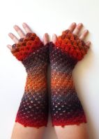 I See Fire - Dragon Gloves by FearlessFibreArts