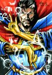Dr. Strange for the Avengers trading card set by Axebone