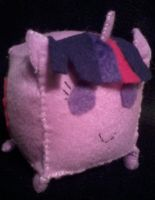 Twilight Sparkle Cubie Plush by Sketch-Silver