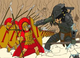 spartan vs predator  color by mangudai-79