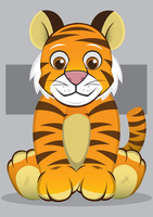 Tiger Plush Toy by GHussain