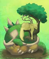 Torterra by PlainYellowFox