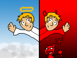 Heaven and HELL by mikeinthehouse