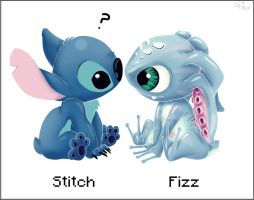Fizz y Stitch by ShimikoO