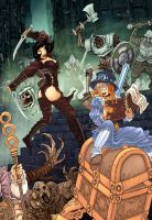 Steampunk Girls of Summer by RodEspinosa