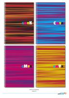 CMYK Lines NoteBook by phyoeminthaw