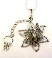 Steampunk Flower Necklace by SteamSect