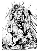 Thor vs Loki INKs by rcardoso530