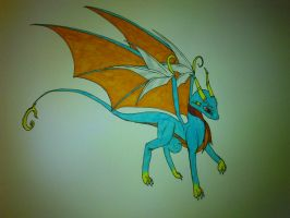 request: blue dragon by cynderplayer