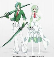 Gardevoir and Gallade Gijinka by lunasnightmare