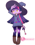 Little Witch Equestria Twilight by LoloPan