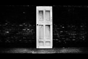 A Man And A Door I by BlackCarrionRose