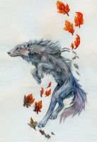 Skyward Wolf by Exileden