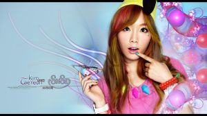 SNSD - Taeyeon Fractal Wallpaper by ffadicted