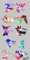 Sonic and Friends Redesigns by NoneToon