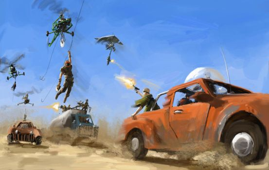 The Helicopter Bandits by J-Humphries