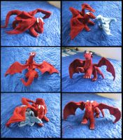 -Knitting- Ruby Dragon by LadyTemeraire