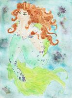 watercolor mermaid by Akyra93
