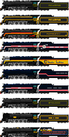 All Reading T-1 Paint Schemes by o484