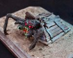 Basement Spider Side View by Debra-Marie