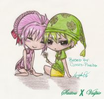 Rumble Fighter - Chibi Couple by niny312